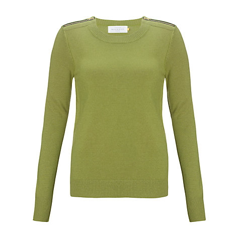 Buy Collection WEEKEND by John Lewis Zip Shoulder Top Online at johnlewis.com
