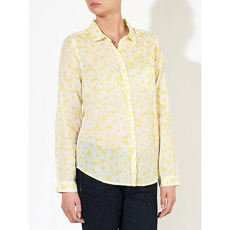 Buy Collection WEEKEND by John Lewis Voile Shirt, Yellow/White Online at johnlewis.com