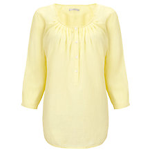 Buy John Lewis Capsule Collection Pleat Neck Linen Top Online at johnlewis.com