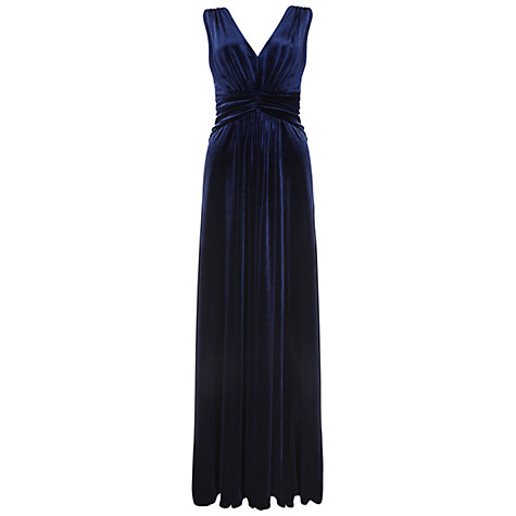 Buy Ariella Mila Velvet Dress, Navy Online at johnlewis.com