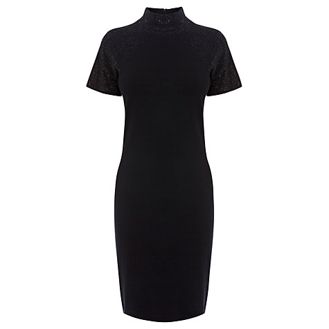 Buy Coast Romarie Knitted Dress, Black Online at johnlewis.com