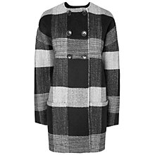 Buy Jaeger Collarless Coat, Black Online at johnlewis.com
