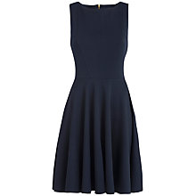 Buy Almari Flared Waffle Dress, Navy Online at johnlewis.com