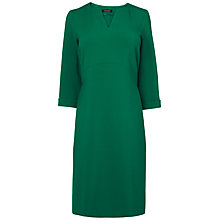 Buy Jaeger Cruved Seam Shift Dress, Green Online at johnlewis.com