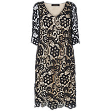 Buy Jaeger Lace Dress, Black Online at johnlewis.com