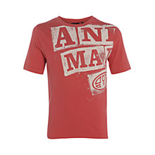 Buy Animal Boys' Huston Graphic Print T-Shirt, Red Online at johnlewis.com