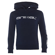 Buy Animal Boys' Fadian Logo Hoodie, Indigo Online at johnlewis.com