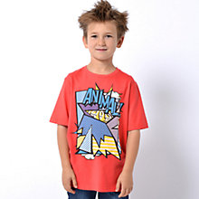 Buy Animal Boys' Pop Art Print T-Shirt, Red Online at johnlewis.com