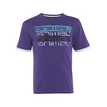 Buy Animal Boys' Double Layer Logo T-Shirt, Purple Online at johnlewis.com