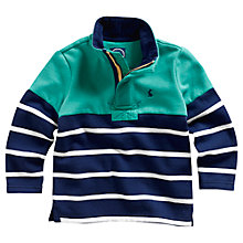 Buy Little Joule Captain Stripe Sweatshirt, Navy/Green Online at johnlewis.com