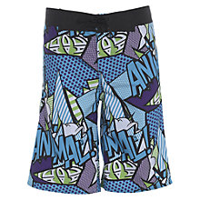 Buy Animal Boys' Pop Art Print Boardshorts, Blue/Multi Online at johnlewis.com