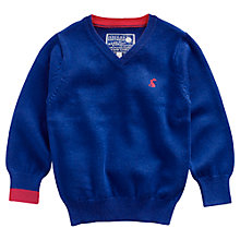 Buy Little Joule Retford V-Neck Jumper, Blue Online at johnlewis.com