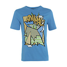 Buy Animal Boys' Pop Art Print T-Shirt, Blue Online at johnlewis.com