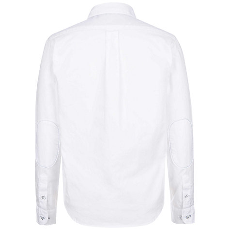 Buy Hackett London Boys' Long Sleeve Oxford Shirt, White Online at johnlewis.com