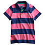 Buy Little Joule Jersey Stripe Polo Shirt, Pink/Blue Online at johnlewis.com