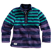 Buy Little Joule Woozle Striped Fleece, Purple/Green Online at johnlewis.com