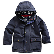 Buy Little Joule Fairbank Hooded Coat, Navy Online at johnlewis.com
