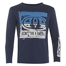 Buy Animal Boys' Babbit Long Sleeve T-Shirt, Indigo Online at johnlewis.com