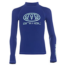 Buy Animal Boys' Long Sleeve Swimming Rash Vest, Blue Online at johnlewis.com