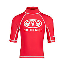 Buy Animal Hilbert Short Sleeve Rash Vest, Red Online at johnlewis.com