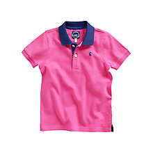 Buy Little Joule Junior Woody Polo Shirt, Carmine Pink Online at johnlewis.com