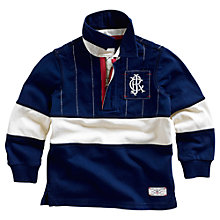 Buy Little Joule Clyde Rugby Shirt, Navy/Cream Online at johnlewis.com