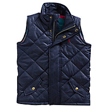 Buy Little Joule Tayport Quilted Gilet, Navy Online at johnlewis.com