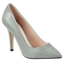 Buy COLLECTION by John Lewis Diego Snake Mock Croc Court Shoes, Grey Online at johnlewis.com