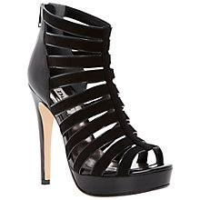 Buy Dune Hetti Suede Gladiator Platform Sandals, Black Online at johnlewis.com