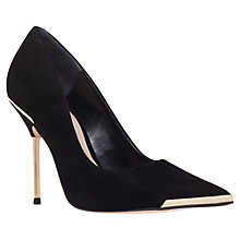 Buy Carvela Adara Suede Metallic Trim Stiletto Court Shoes, Black Online at johnlewis.com