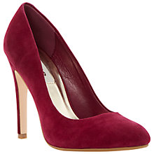 Buy Dune Barmy Suede Stiletto Court Shoe, Pink Online at johnlewis.com