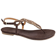 Buy John Lewis Havana Beige Beaded Sandal Online at johnlewis.com