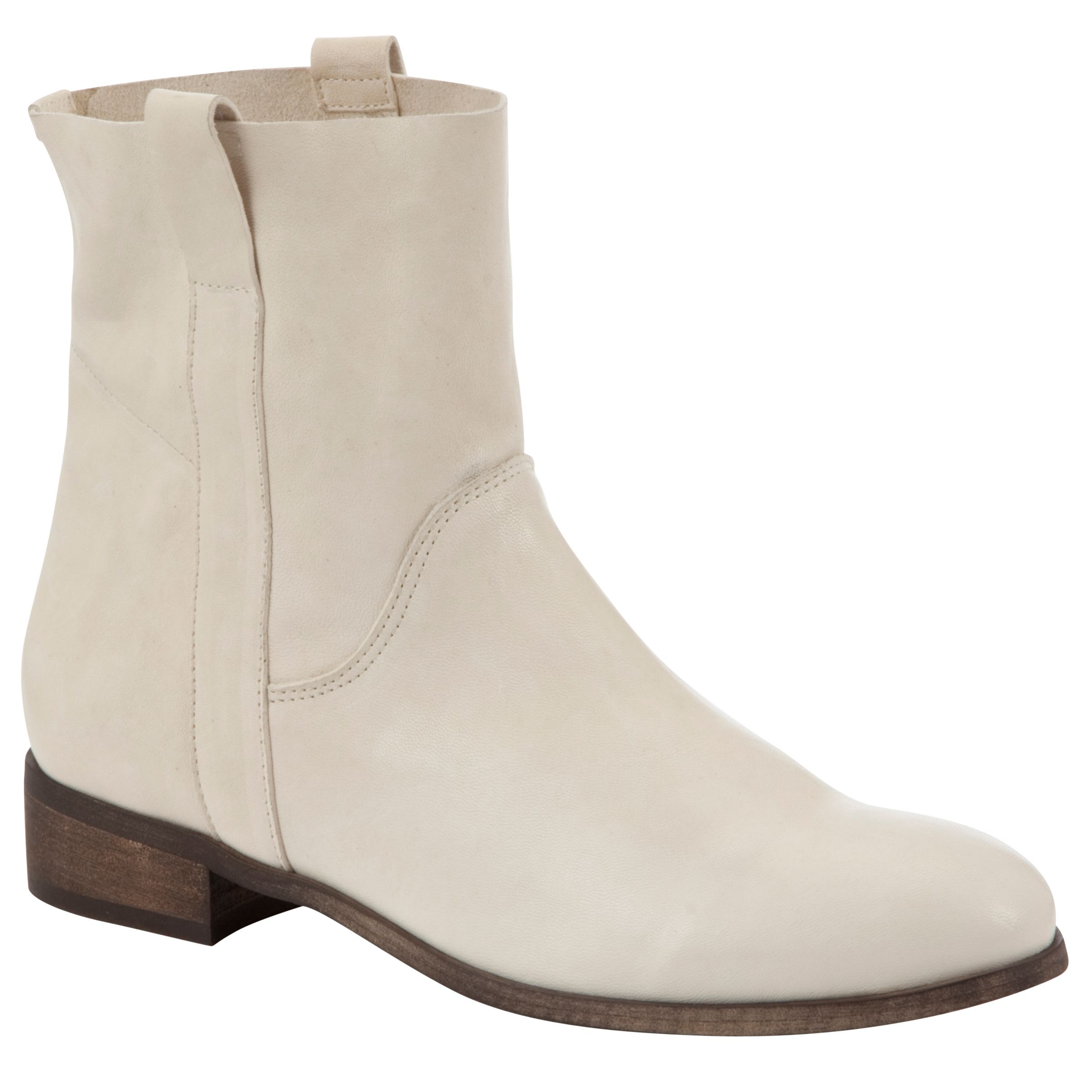 Kin By John Lewis Four Ankle Boots, White