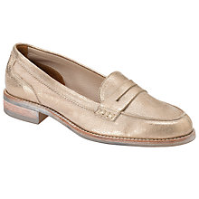 Buy Collection WEEKEND by John Lewis Michigan Loafers, Gold Online at johnlewis.com