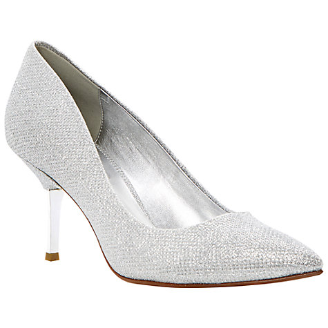 Buy Dune Brill Glitter Fabric Kitten Heel Court Shoes Online at johnlewis.com