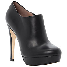 Buy Dune Bavina Leather Platform Stiletto Shoe Boots, Black Online at johnlewis.com