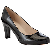 Buy Unisa Obert Patent Leather Court Shoes, Black Online at johnlewis.com