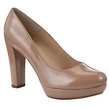 Buy Unisa Marion Patent Leather Court Shoes, Blush Online at johnlewis.com