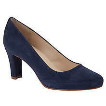 Buy Unisa Obert Suede Court Shoes, Navy Online at johnlewis.com