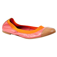 Buy Collection WEEKEND by John Lewis Patrol Leather Scrunched Ballerina Pumps Online at johnlewis.com