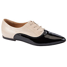 Buy COLLECTION by John Lewis Melrose Leather Brogues, Bone / Black Online at johnlewis.com