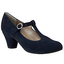 Buy John Lewis Poem Suede Court Shoes, Navy Online at johnlewis.com