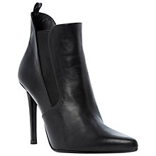 Buy Dune Black Pricey Point Toe Stiletto Heel Ankle Boots Online at johnlewis.com