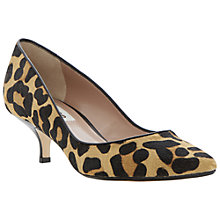 Buy Dune Alfa Court Shoes, Leopard Pony Online at johnlewis.com