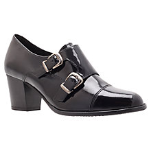 Buy Carvela Almond Heeled Loafers, Black Online at johnlewis.com
