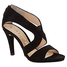 Buy Unisa Yedi Suede Sandals, Black Online at johnlewis.com