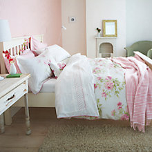 Buy Sanderson Adele Bedding, Raspberry Online at johnlewis.com