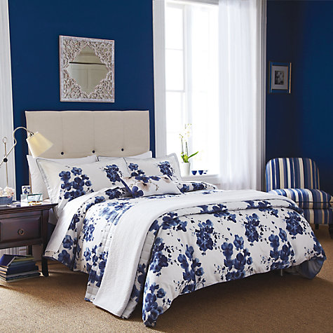 Buy Sanderson Mandarin Flowers Bedding, Indigo Online at johnlewis.com