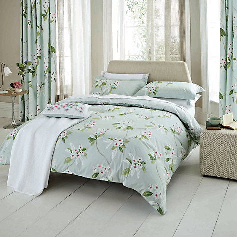 Buy Sanderson Oleander Bedding, Aqua Online at johnlewis.com