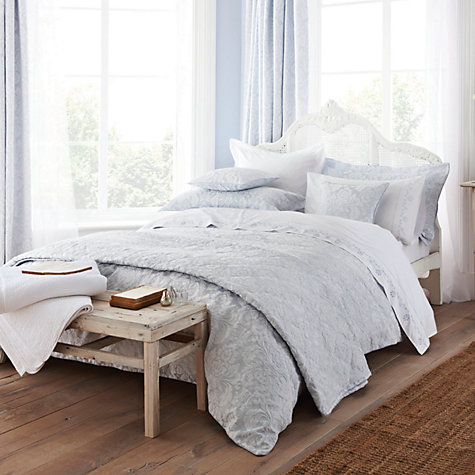 Buy Sanderson Richmond Bedding, Blue Online at johnlewis.com